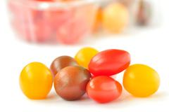 cherry tomatoes of different colors - stock photo
