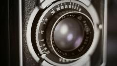 Old camera shutter relaese Stock Footage