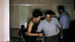 Black DANCE CLUB PARTY African American 1960s Vintage Film Old Home Movie 5238 - stock footage