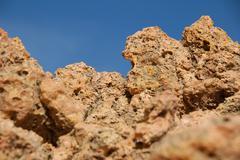 Big rocks on beach - stock photo