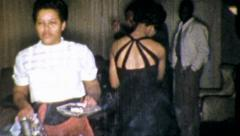 BLACK People Dancing African American Party 1960s Vintage Film Home Movie 5240 - stock footage