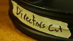 film canister Directors cut - stock footage