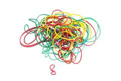 Colorful elastic rings Stock Photos