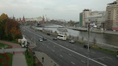 Moscow street road Stock Footage