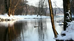 Frozen River 5 Looped Stock Footage