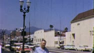 Stock Video Footage of HOLLYWOOD STUDIO LA California Street Scene 1960s Vintage Film Home Movie 5252