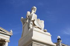 Statue of Socrates in Athens, Greece Stock Photos