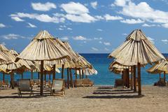 Summer beach in Montenegro Stock Photos
