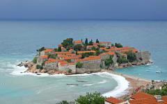 Stock Photo of Sveti Stefan island, Montenegro
