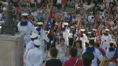 Italian Navy parade in Rome (1) Stock Footage
