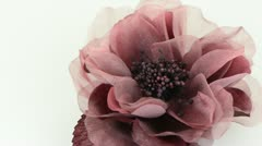 Pink fabric flower Stock Footage
