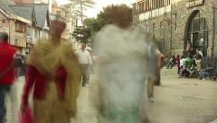 Indian traffic pedestrians Stock Footage