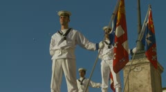 Italian Navy parade in Rome (13) Stock Footage