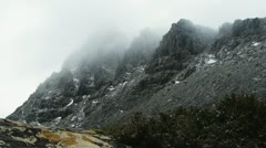cradle mountain mist - stock footage
