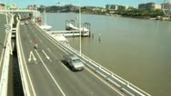 Stock Video Footage of Freeway And Ferries