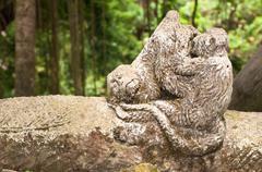 Monkey's statue Stock Photos