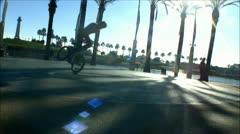 Flatland BMX bike tricks - 5 Stock Footage