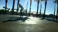 Flatland BMX bike tricks - 4 Stock Footage