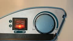 Water temperature controls on a hot water heater, twist hand. Stock Footage