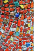 Mosaic wall texture Stock Photos