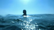 Underwater Ocean 24 Bikini Girl Swimming Stock Footage