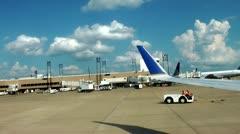 Lentokone, Lentokone, kiitotielle, lentokentät Arkistovideo