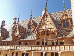 Famous hospice in beaune. france, burgundy Stock Photos
