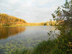 lake in autumn - stock photo