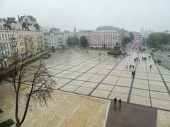 Rain in Kiev Stock Photos