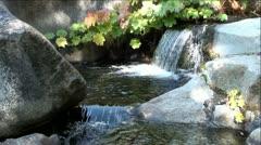 Mini Waterfall and Pools in Mountain Creek Stock Footage