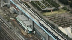 Tokyo Railway, Japan, Regional Train Passing, Speed Train, Metropolitan Area Stock Footage
