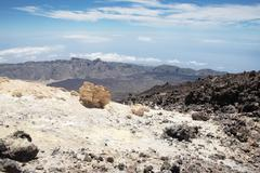 view from the teide - stock photo