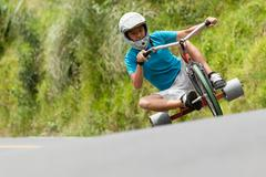 Stock Photo of Tike Drifting A New Sport Begin To Take Shape Home Made Tricycles That Have