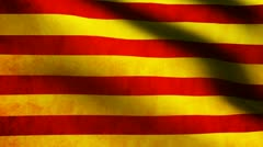 Catalonia flag. - stock footage