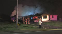House fire lots of smoke Stock Footage