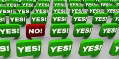 Stock Illustration of Saying No