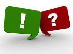 Question and Answer - stock illustration