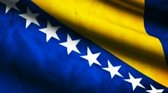 Bosnia and Herzegovina flag. - stock footage