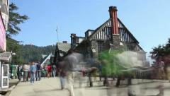Traffic Shimla city India Himalayas Stock Footage