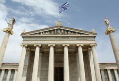 Academy of Arts in Athens, Greece Stock Photos