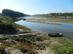 Sandy stretch of river Stock Photos