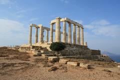 Temple of Poseidon near Athens, Greece Stock Photos