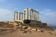 Stock Photo of Temple of Poseidon near Athens, Greece