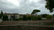 Lucca walls 0812 Stock Footage