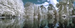 Infrared panoramic  landscape Stock Photos