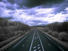 highway to hell - stock photo
