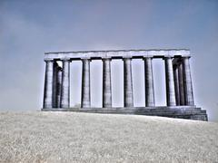 national monument in edinburgh scotland - stock photo