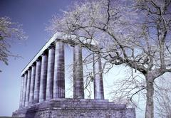 national monument of edinburgh - stock photo