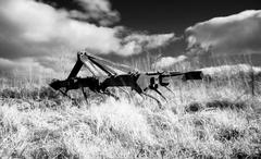 Infrared plough machine Stock Photos
