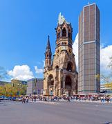 Kaiser wilhelm memorial in kurfurstendamm Stock Photos